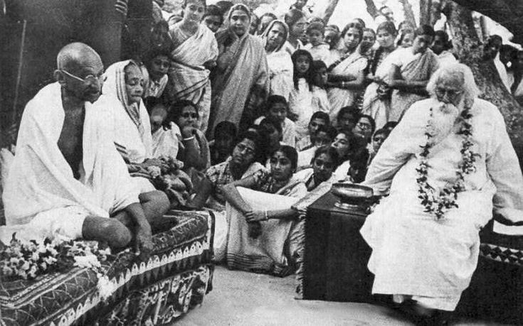 Gandhi + Tagore. Perfection?Celebrities Photos, Mahatma Gandhi, Gandhi Tagore Crop Jpg, Fighter Photos, Indira Gandhi, Gandhitagorecroppedjpg 800457, ফলমলর পরবরত, Litterateur Photos, Gandhi Tagore Cropped Jpg