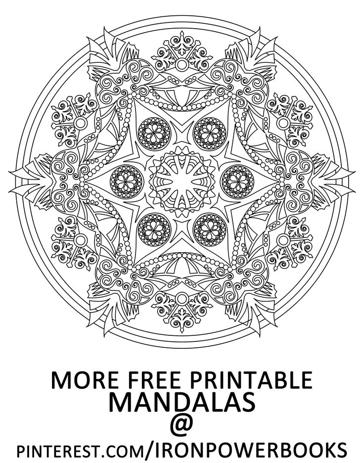 FREE Printable Page from Mandalas to Color Volume 5. For more of these designs visit: http://www.amazon.com/Mandalas-Color-Mandala-Coloring-Adults/dp/149733716X