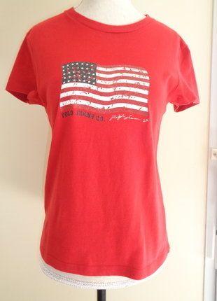 À vendre sur #vintedfrance ! http://www.vinted.fr/mode-femmes/hauts-and-t-shirts-t-shirts/30433603-t-shirt-ralph-lauren-drapeau-americain-effet-vieilli-t-36-38