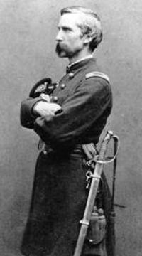 Joshua Chamberlain (September 8, 1828 - February 24, 1914), American college Professor from the State of Maine who volunteered during the Civil War to join the Union Army, reaching the rank of Brigadier General.  For his gallantry at Gettysburg, he was awarded the Medal of Honor.