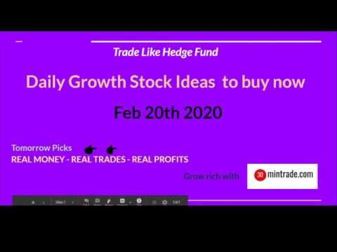 Handpicked Daily Growth Stock Ideas to buy now - Feb 20th ...