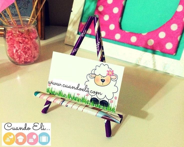 Porta Tarjetas de Palitos de Papel #Recordamos http://blgs.co/aYJ2lM
