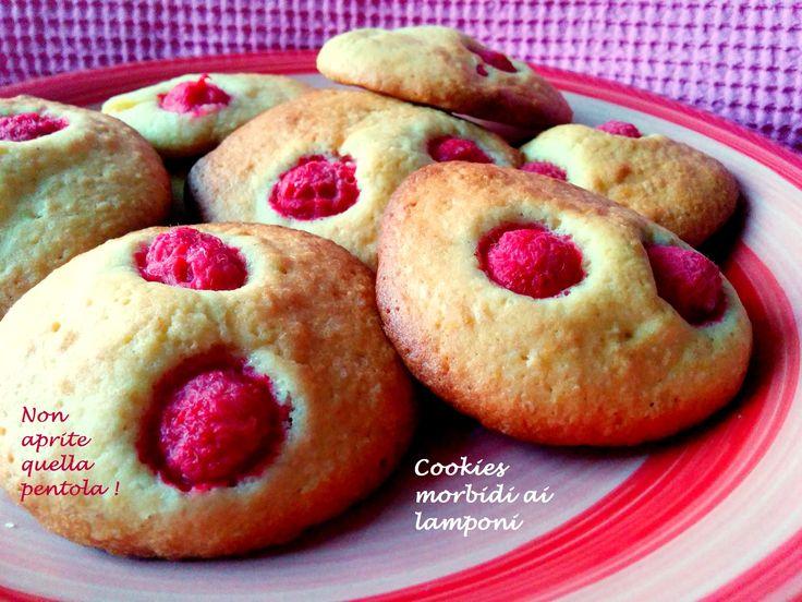 Dolcetto post cena in questa giornata piovosa?Oggi ci sono i cookies morbidi ai lamponi di Kima :)  http://blog.giallozafferano.it/nonapritequellapentola/cookies-morbidi-ai-lamponi/  #lamponi #biscotti #colazione #cookies #fruttidibosco #nonapritequellapentola #food #giallozafferano #italia #expo2015