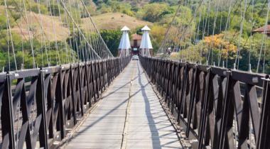 Western Suspension Bridge    - Santa fe de Antioquia, Colombia