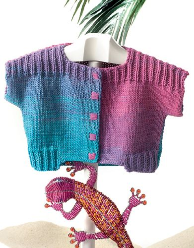 Book Baby 60 Spring / Summer   38: Baby Jacket   Fuchsia-Blue