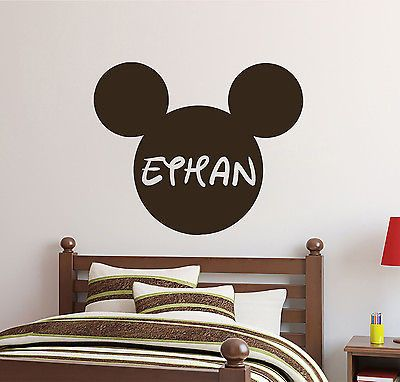 Mickey Mouse Wall Decals Personalized Name Girl Decal Nursery Room Decor  DS408 Part 92