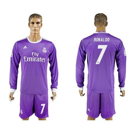 Real Madrid 16-17 Cristiano #Ronaldo 7 Udebanesæt Lange ærmer,245,14KR,shirtshopservice@gmail.com