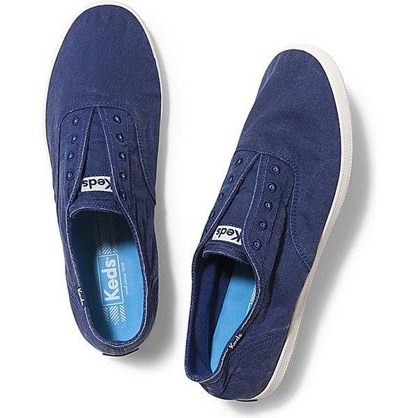 Keds MEN'S CHILLAX ($45) ❤ liked on Polyvore featuring men's fashion, men's shoes, blue depths, mens shoes, mens slipon shoes, mens slip on shoes, keds mens shoes and mens blue slip on shoes