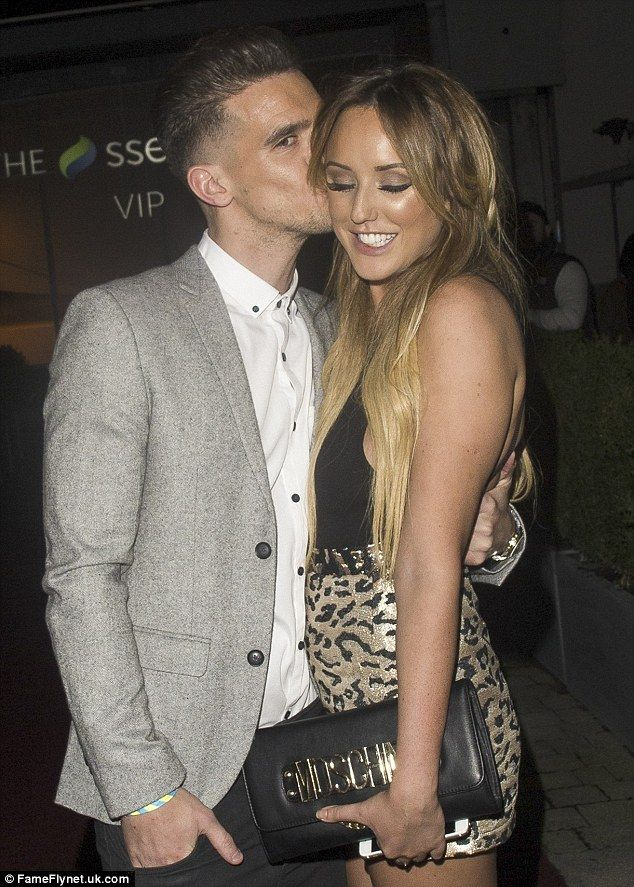 Cute PDA: Charlotte Crosby, 25, and Gaz Beadle, 27, made their feelings for each other ver...