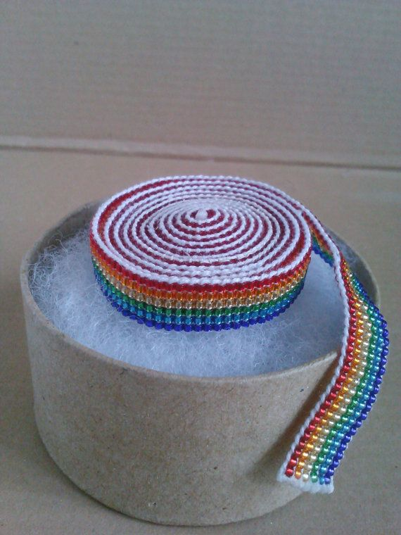 Over the Rainbow Scarflace by AbandonedWarehouse on Etsy