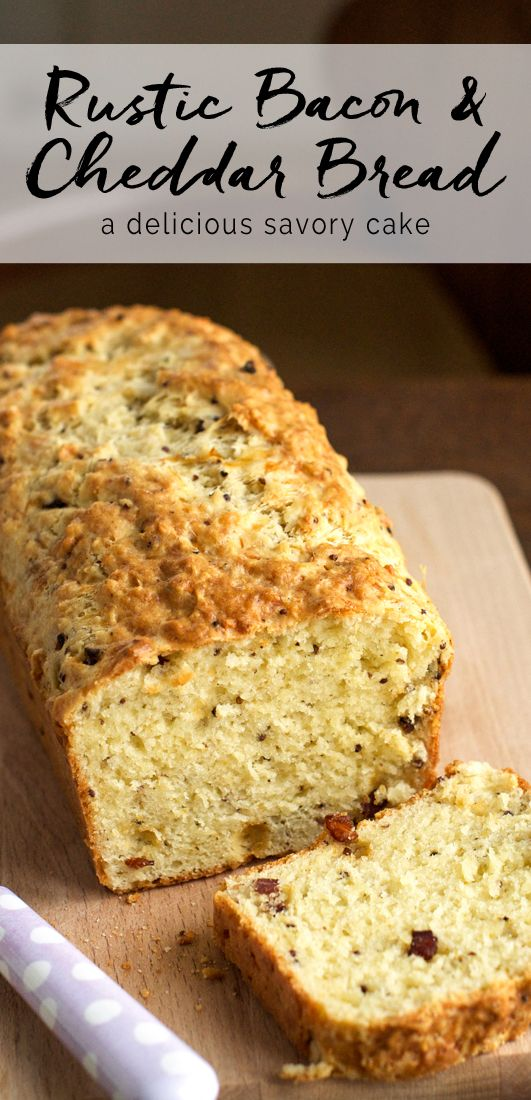 Rustic Bacon & Cheddar Bread | eatlittlebird.com                                                                                                                                                                                 More
