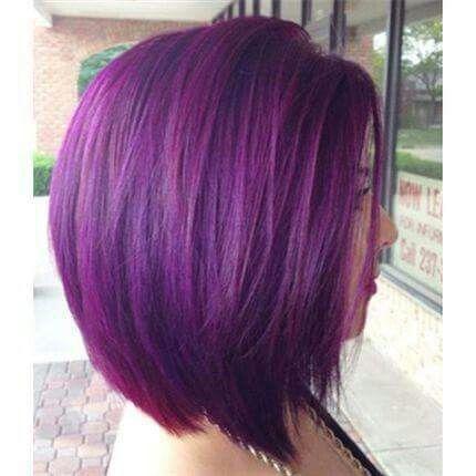 #short #purple #hair