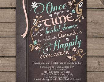 Once Upon a Time baby shower invitation Shower invite Pink