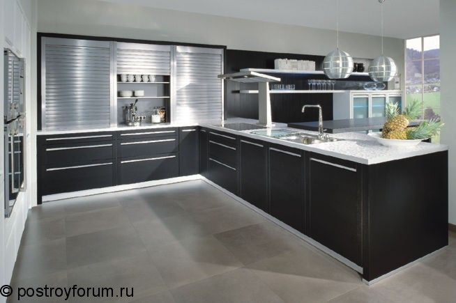 кухня в стиле хайтек фото