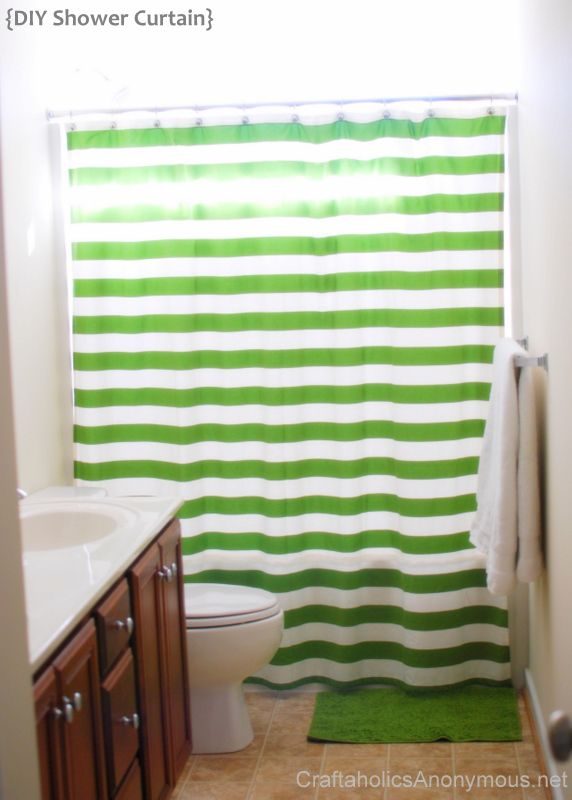 How to sew your own shower curtain!  Wow---never pay outrageous prices again if you use discount fabric!