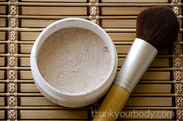 All natural homemade foundation from thankyourbody.com. Just because I have high expectations