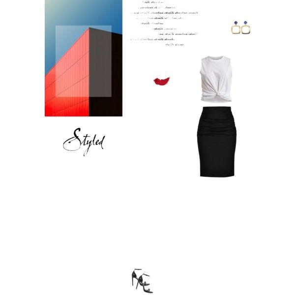 Bez tytułu #90 by izabelmaz on Polyvore featuring moda, VILA, Paule Ka, Yves Saint Laurent and Estée Lauder