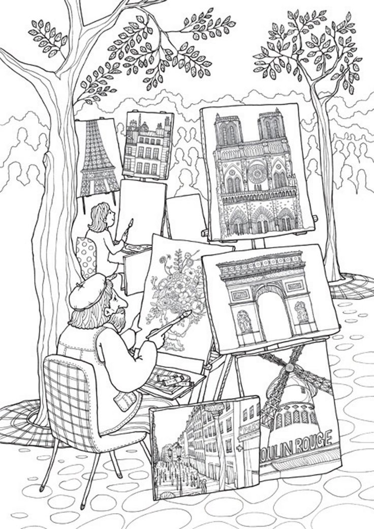 coloring pages of frnce - photo#28