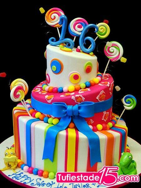 Tortas coloridas