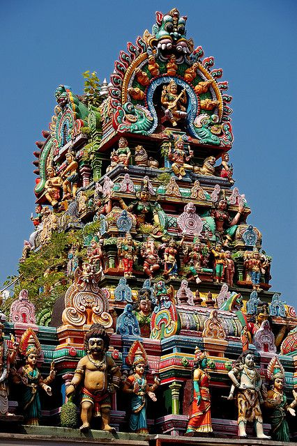 MEENAKSHI HINDU TEMPLE - TAMIL-NADU STATE, INDIA. (The colour and detail of these temples are extraordianry!)