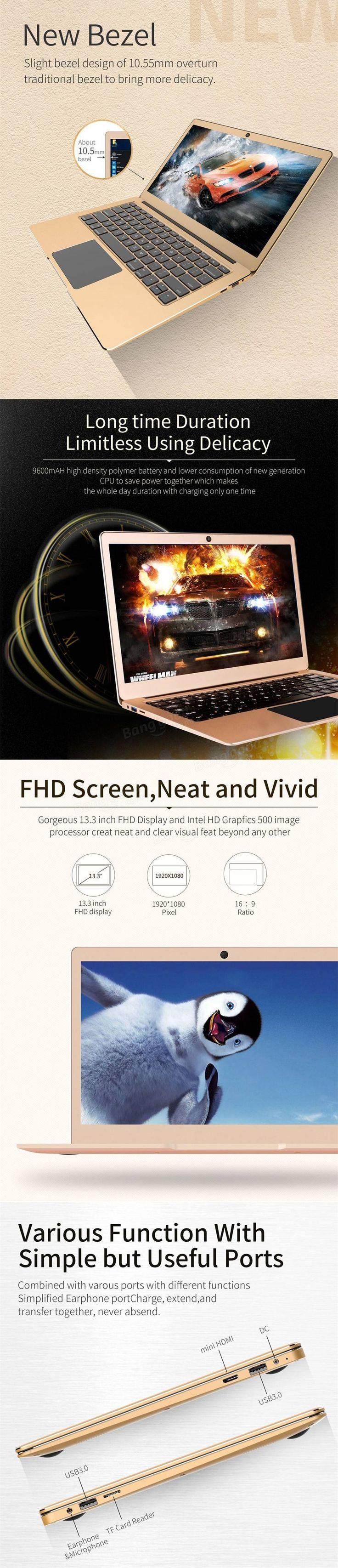 JumperEZBOOK3PRONotebook13,3 polegadas 6G / 64G Windows10 Intel Apollo Lake N3450 Laptop