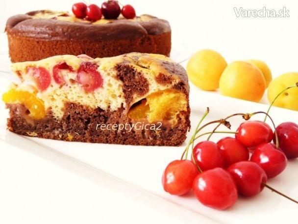 Ovocný koláč v tortovej forme (fotorecept)
