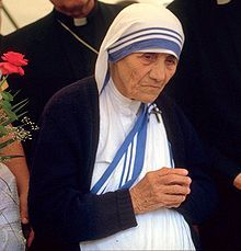 """Mother Teresa--Religion guides through the darkness, dispells fear, gathers together support and love.    """"Let nothing perturb you, nothing frighten you.     All things pass. God does not change. Patience achieves everything.""""   ~ Mother Teresa"""