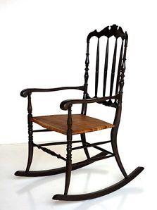 CHIAVARINA sedia dondolo rocking chair anni 50 buffa design modernariato