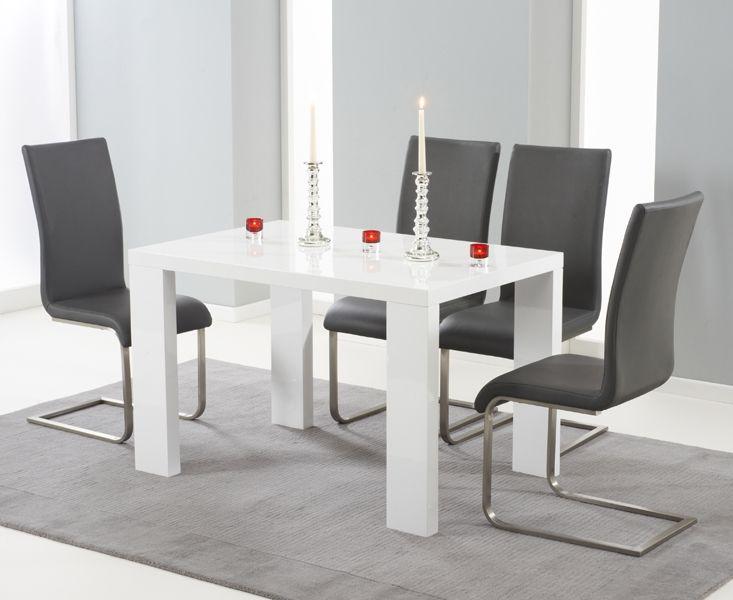 Mark Harris Metz White High Gloss Dining Set