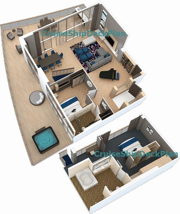 Harmony Of The Seas Royal Loft Suite Floor Plan Yacht