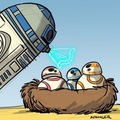 R2D2: - BB8, I'm your father.