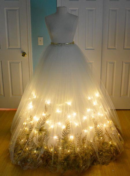 How she made a beautiful light-up angel skirt.