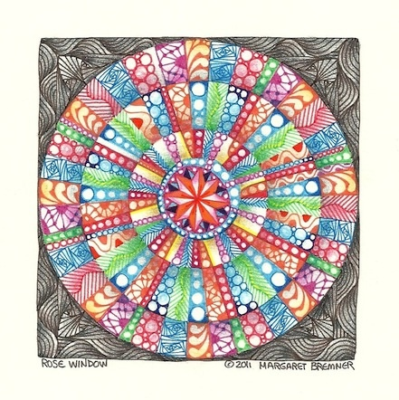 Enthusiastic Artist: More mandala fun with the apple corer thingy