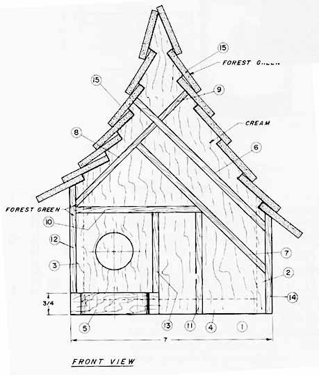 free bird house plans | Bird House Plan - Free Project Plans from - http://www.woodworkit.com