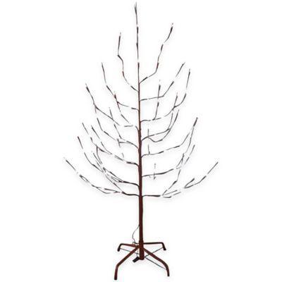 Cool Kurt Adler Foot Pre Lit Artificial Brown Twig Christmas Tree with White LED Pre Beleuchteter WeihnachtsbaumK nstliche