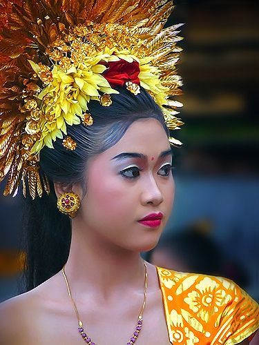 Balinese  in traditional custome