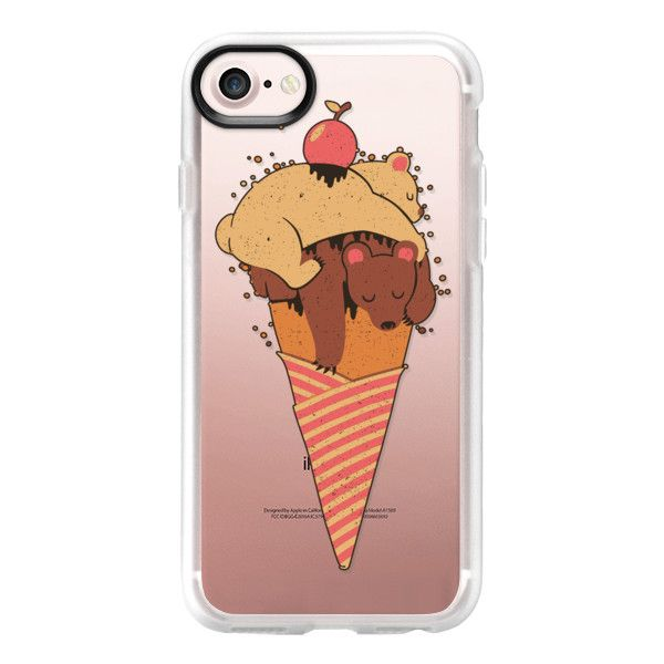 Soft Ice Cream Bears Summer - iPhone 7 Case And Cover ($39) ❤ liked on Polyvore featuring accessories, tech accessories, iphone case, iphone cover case, clear iphone case, apple iphone case and iphone cases