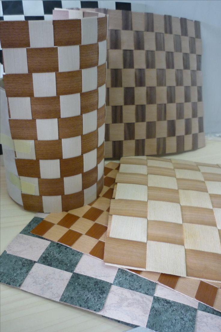 textures legno 6/10 grezzo preincollato per testate di letto . Prodotte dalla BRICOMM su richiesta designer per park-hotel ROMA