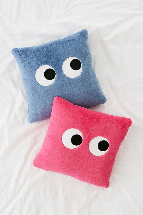 Urban Outfitters Googly Eyes Pillow so plush, you'll be making googly eyes. Plush Throw Pillow. #affiliate