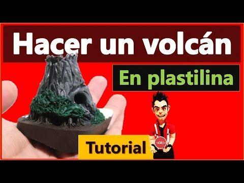 Cómo hacer un volcán de plastilina / Tutorial - YouTube
