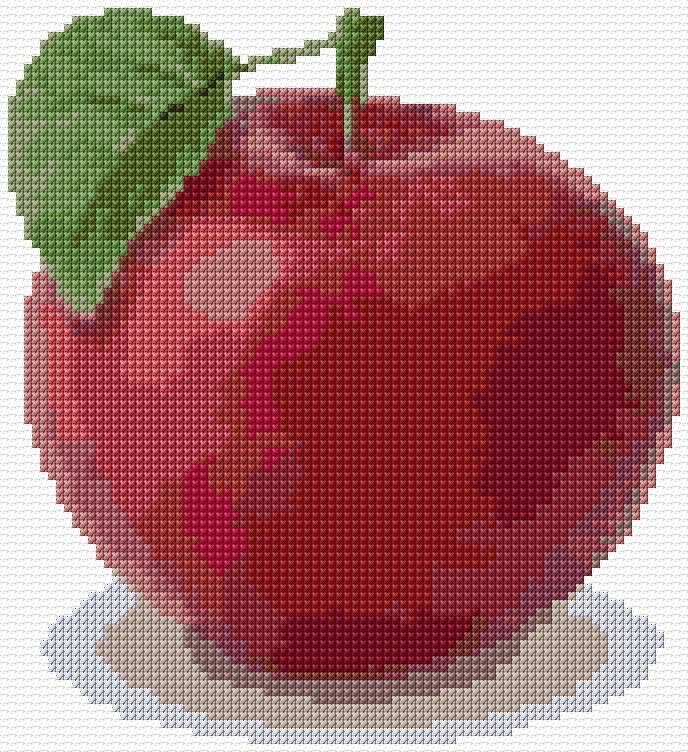 Cross Stitch | Apple xstitch Chart | Design