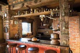 Rustic Brick Brick Houses Rustic Kitchen Ideas Para Homes Rustic