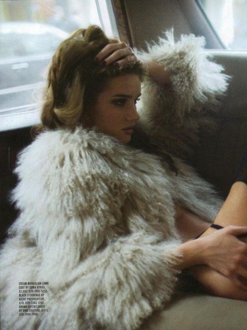 backseat chic- Rosie Huntington Whiteley