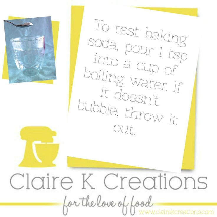 here is how to test your baking soda #tip #cooking #test #foodblogger #clairekcreations #hack