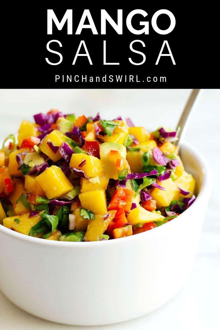 Das beste Mango Salsa Rezept! So einfach und mit frischer Mango, Avocado, knusprig gemacht …   – Easy Party Food