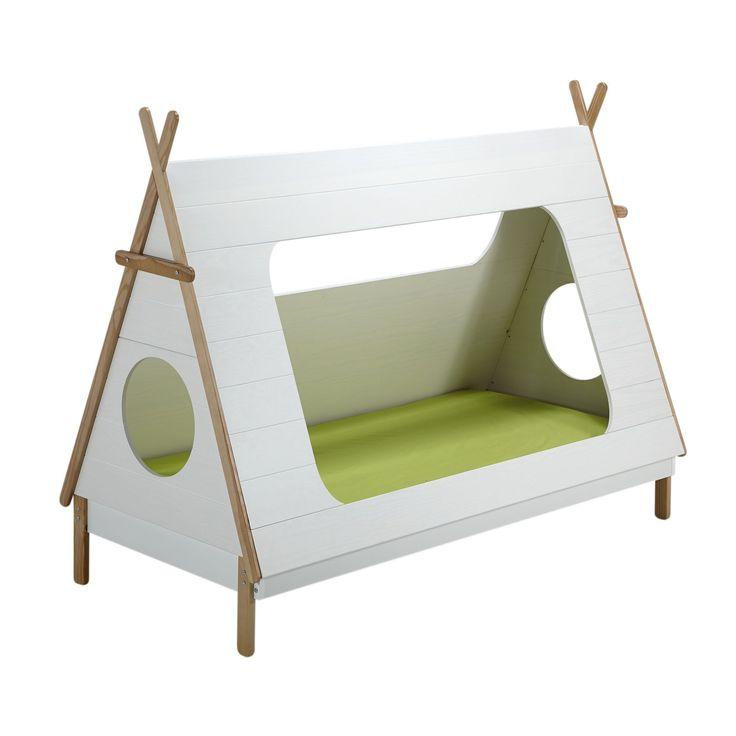 Lit 90x200cm en pin massif en forme de tipi - Tipi - Lits 1 place-Les lits-Chambre-Par pièce - Décoration intérieur - Alinea