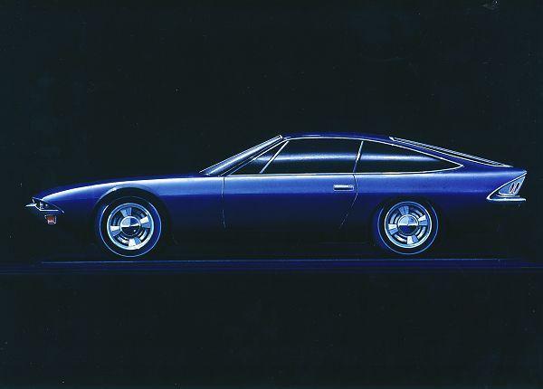 Maserati Khamsin, 1972 - A design drawing by Carrozzeria Bertone