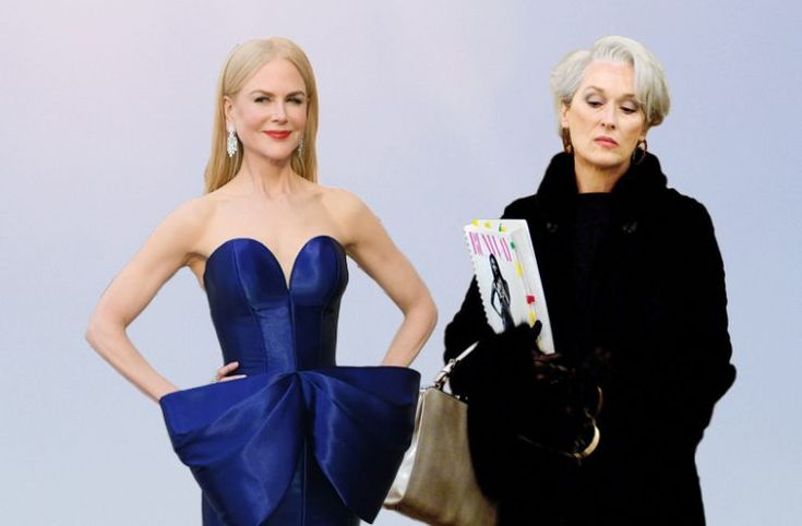 Nicole Kidman usó el vestido que Miranda Priestley odió en Devil Wears Prada