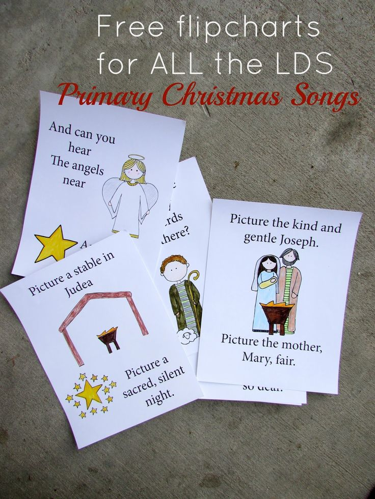 My fellow Primary Music Leaders --   After many hours of work, I have just finished designingflipcharts for all of the Christmas song...