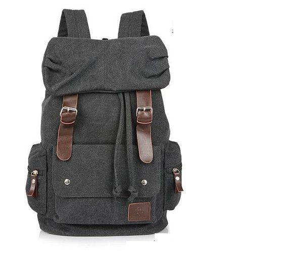 Black Max Big Leisure men's Backpack School Bag Shoulder Bag IPAD Laptop Backpack Travel Mountain climbing package on Etsy, $38.00